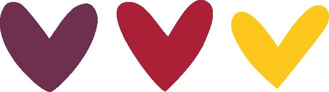 digital minimalist drawing hearts