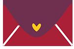 cute digital letter illustration - heart - Sabrillu