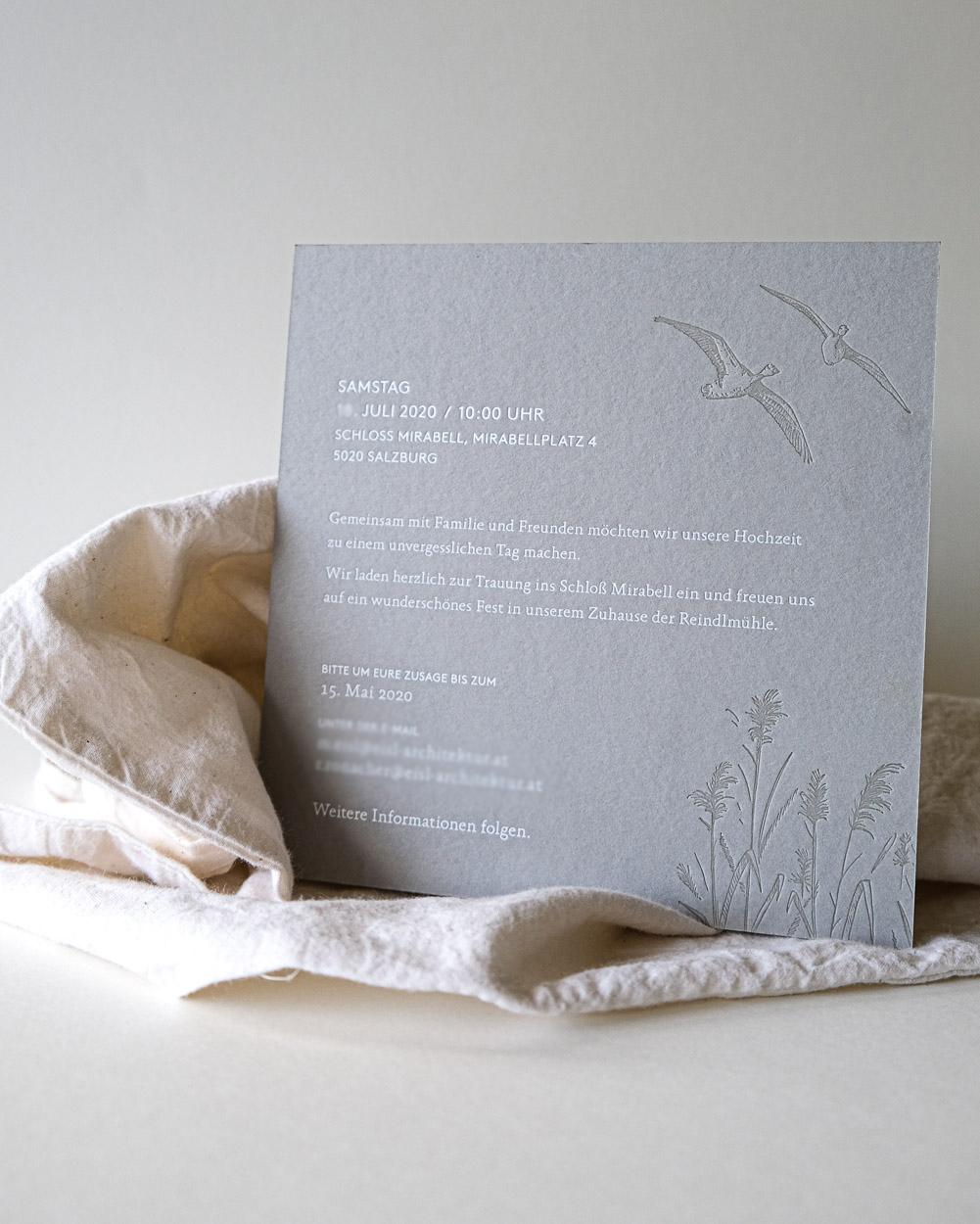Hochzeitseinladung-Illustrationen