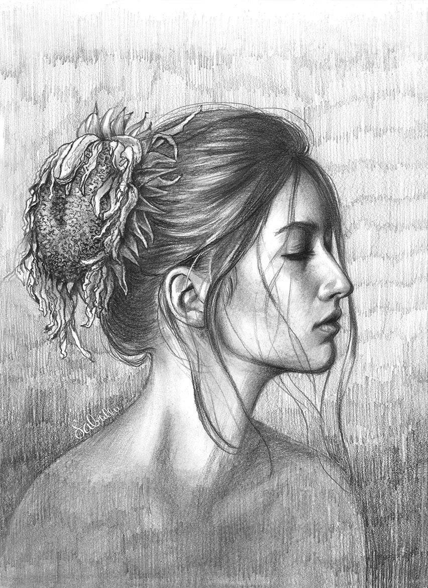 Bleistiftportraits - graphite portrait - Sabrillu