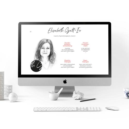Startseite Webseite mit gezeichnetem Portrait | Portrait Illustration | Sabrillu