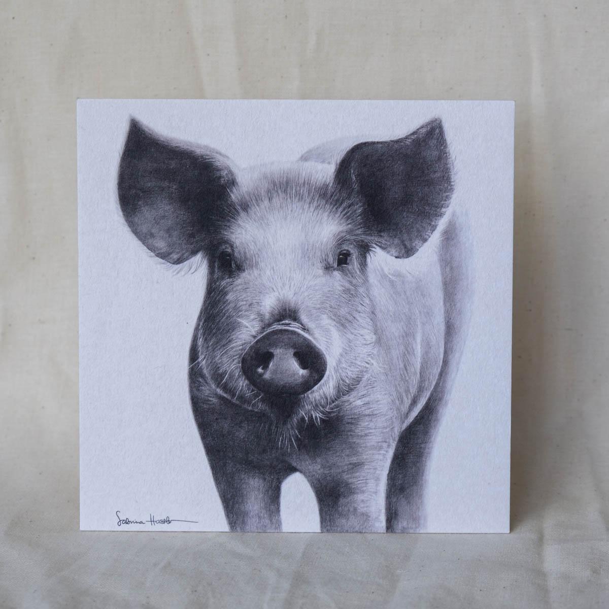 Karte Schwein