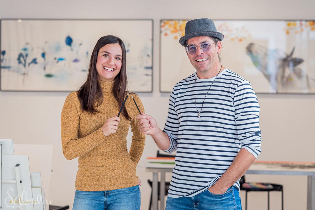 Sabrina Hassler und Michael Ferner machen gemeinsame Kunstwerke
