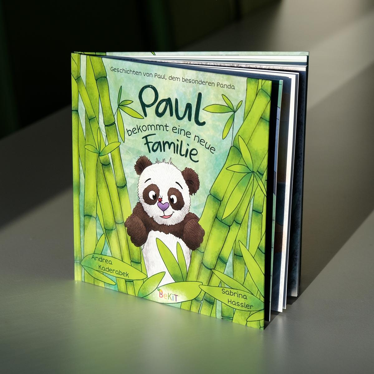 Kinderbuch-Illustration Panda Bambus