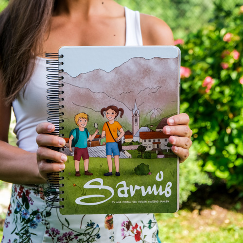 Kinder-Geschichtsbuch Serfaus Tirol Illustration Sabrina Hassler